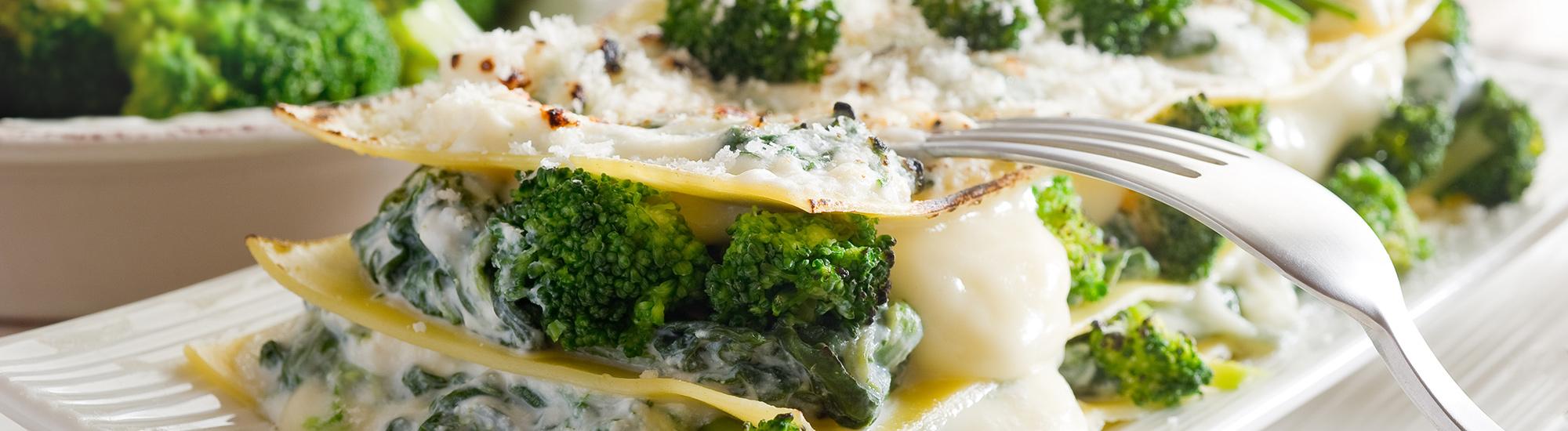 ricetta Lasagne con broccoli e prosciutto cotto con pasta fresca