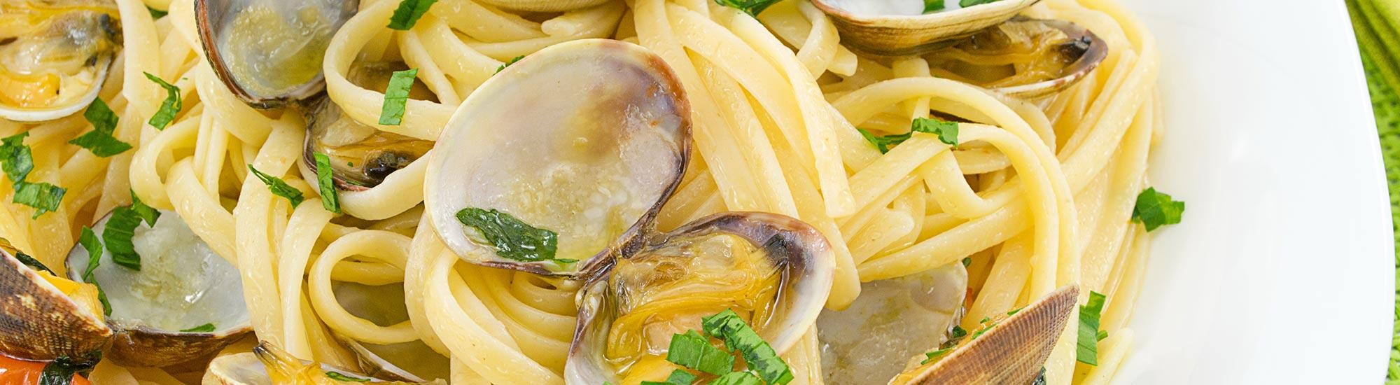 ricetta Tagliolini alle vongole veraci con pasta fresca