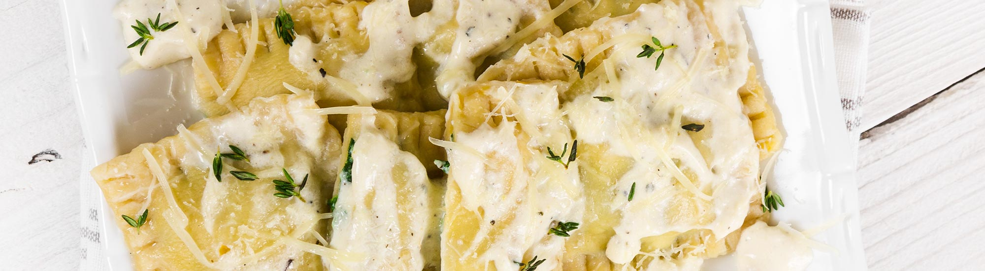ricetta Tortelli di zucca con fonduta di gorgonzola e timo con pasta fresca