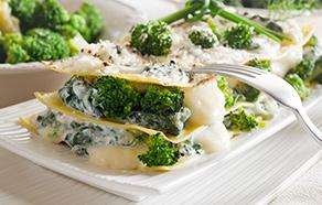 Lasagne con broccoli e prosciutto cotto