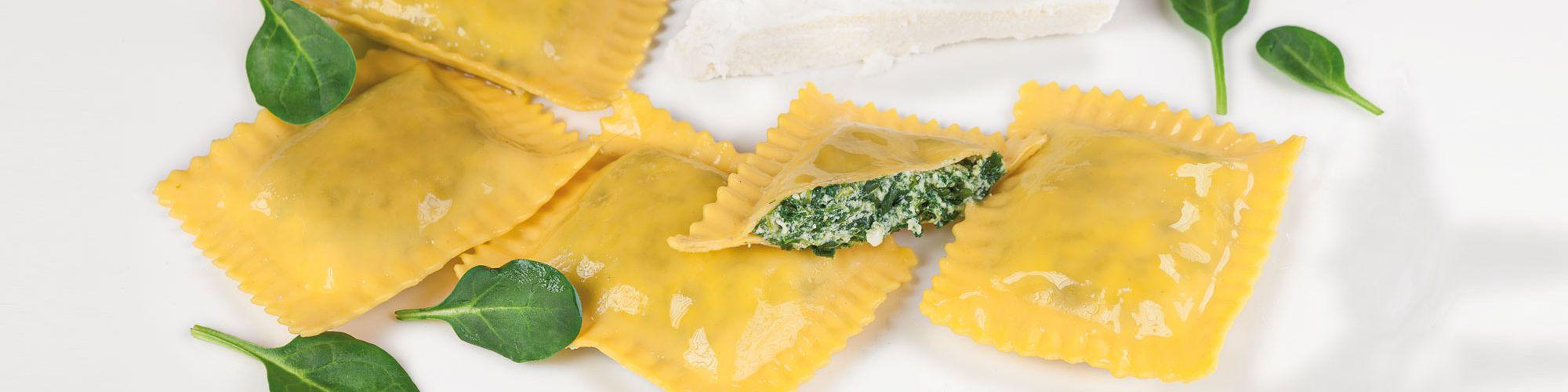 Ravioloni ricotta e spinaci