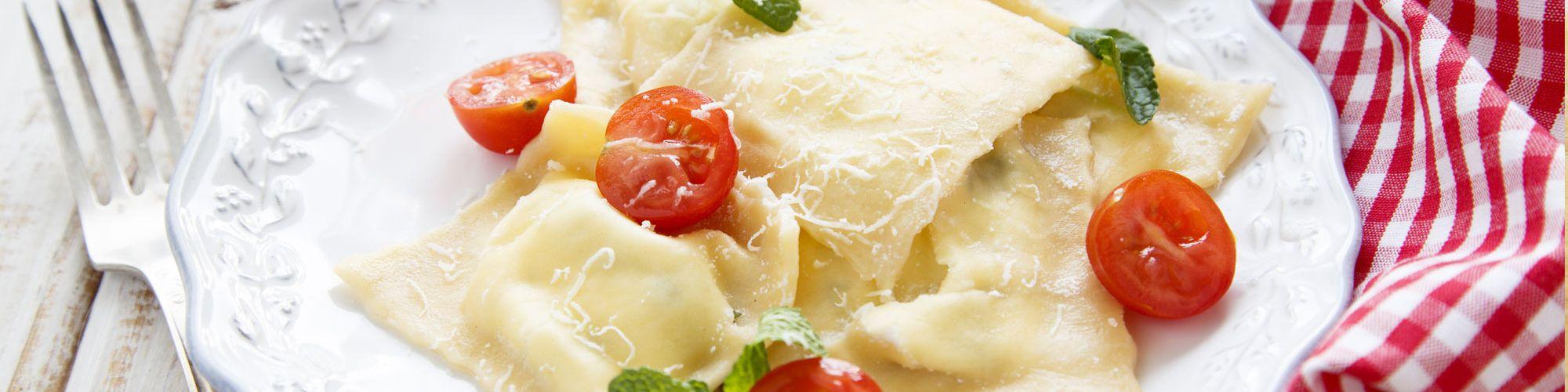ricetta Robiolotti con Robiola Oro Zani con pomodorini e rucola con pasta fresca