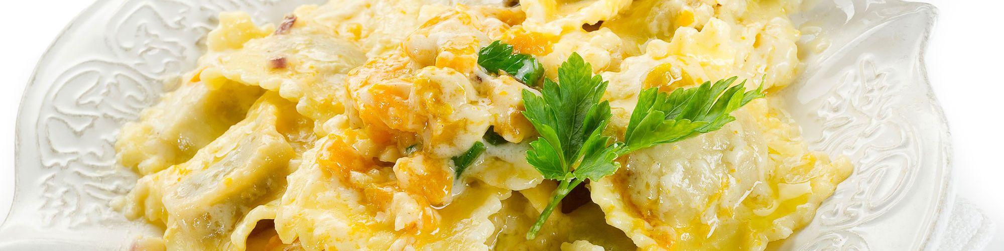 ricetta Tortelli di zucca e amaretti con pasta fresca