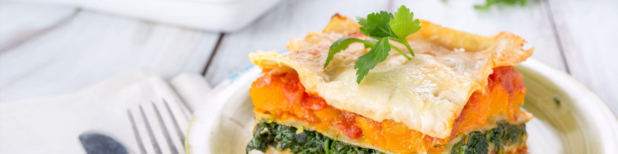 ricetta Lasagna con zucca e spinaci con pasta fresca